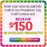 Submit your patriotic craft idea to Hygloss Products' Presidents' Day Craft Contest!